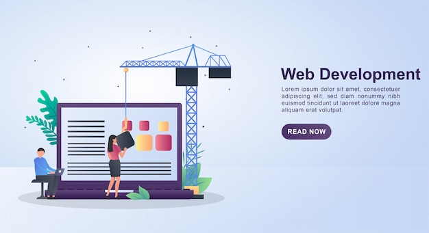 Webを設計している人々とのweb開発の図の概念。