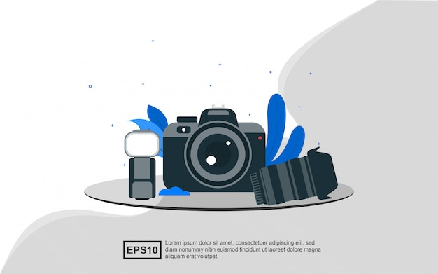 Illustration concept of photography.