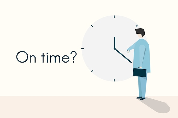 Illustration of the concept and quote on time?