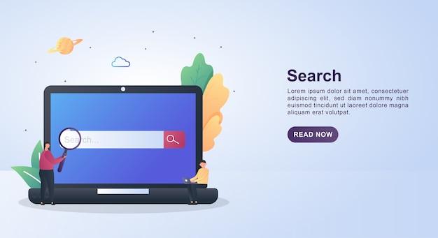 Illustration concept of search engine optimization.