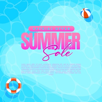 Illustration concept of summer holiday