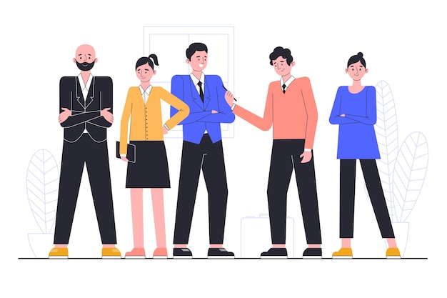 Illustration concept with business people