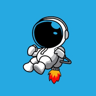 Illustration of cosmonaut