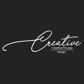 Illustration of creative designer stamp banner