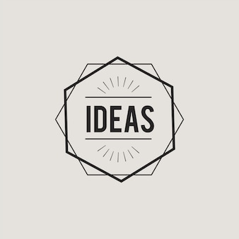 Illustration of creative ideas concept icon