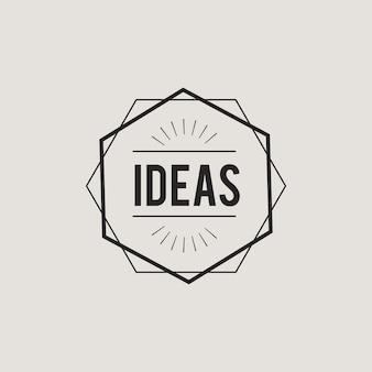 Illustration of creative ideas concept icon