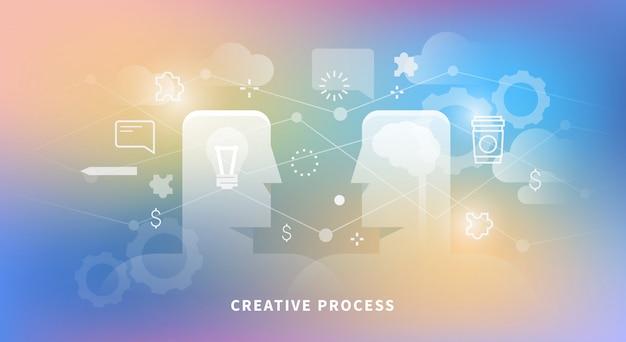 Illustration of creative process