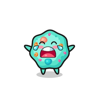 The illustration of crying amoeba cute baby , cute style design for t shirt, sticker, logo element