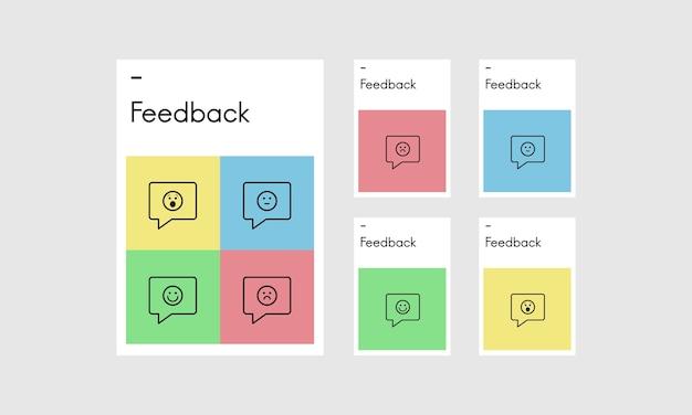 Illustrazione del feedback dei clienti
