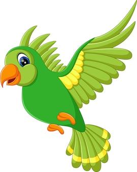 Illustration of cute birds flying
