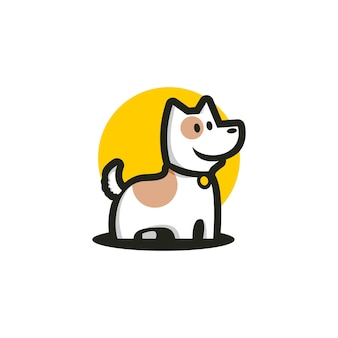 Illustration of a cute dog for any business logo related to dog or pet