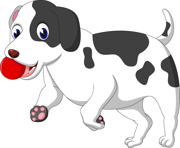 Illustration of cute dog cartoon