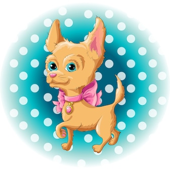 Illustration of a cute dog chihuahua