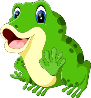 Illustration of cute frog cartoon
