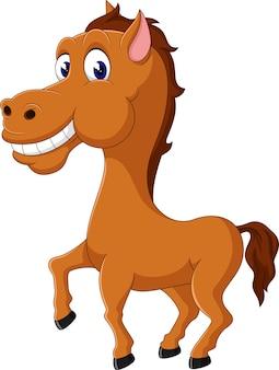 Illustration of cute happy horse cartoon