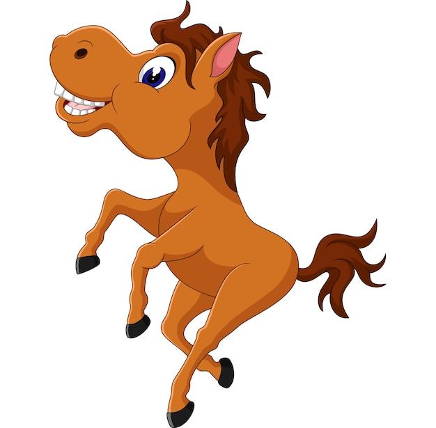 Illustration of cute horse cartoon