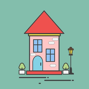 Illustration of a cute house