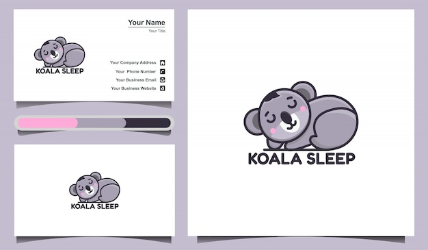 Illustration   cute koala logo design template