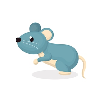 Illustration of cute mouse character with cartoon style