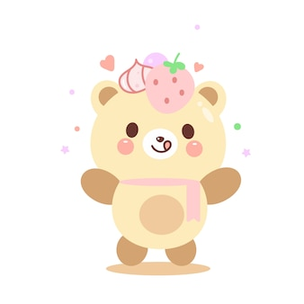 Illustration cute teddy bear