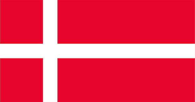 Illustration of denmark flag