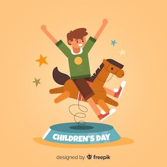Illustration design for childrens day