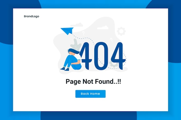Illustration design concept 404 error page not found