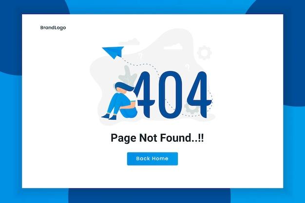 Концепция дизайна иллюстрации 404 страница ошибки не найдена