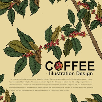 Дизайн иллюстрации для кофейного плаката