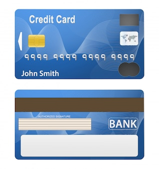 Illustration of detailed beautiful credit card.