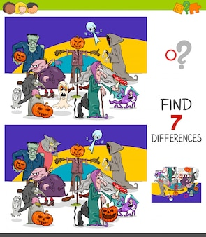 Illustration of differences educational game