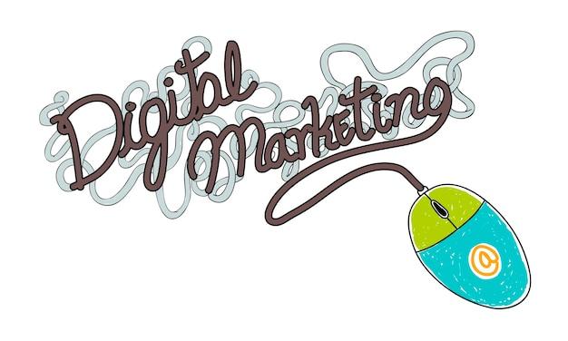 Illustrazione del marketing digitale