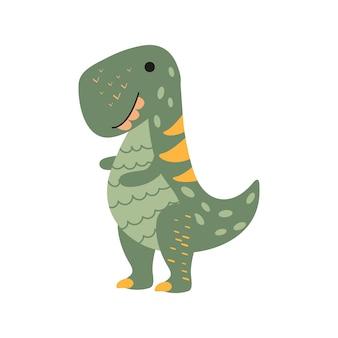 만화 스타일의 그림 공룡 티라노사우르스