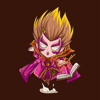 Illustration of doctor hero for character, sticker, t-shirt illustration