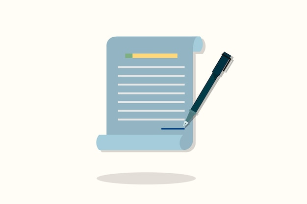 Illustration of document icon