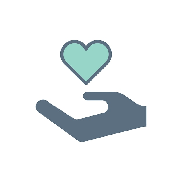 Illustration of donation support icons