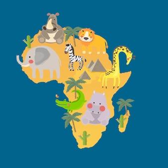 Illustration drawing style set of wildlife habitats