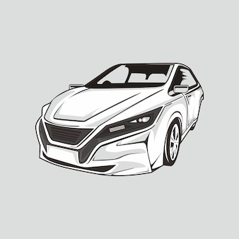 Illustration of drift car