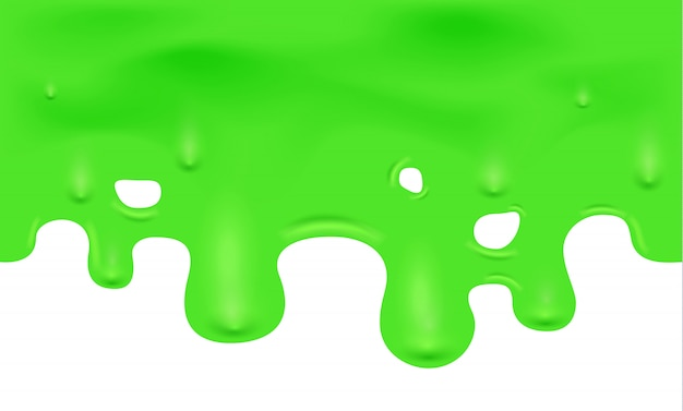 Illustration of dripping green slime