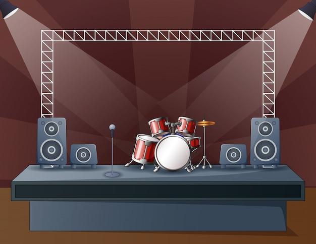 Illustration of a drum at the concert stage
