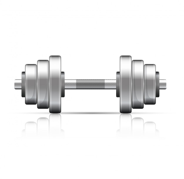 Illustration of dumbbell with removable disks