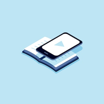 Illustration of e-book