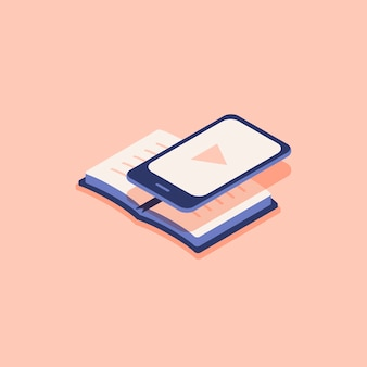Illustrazione di e-book