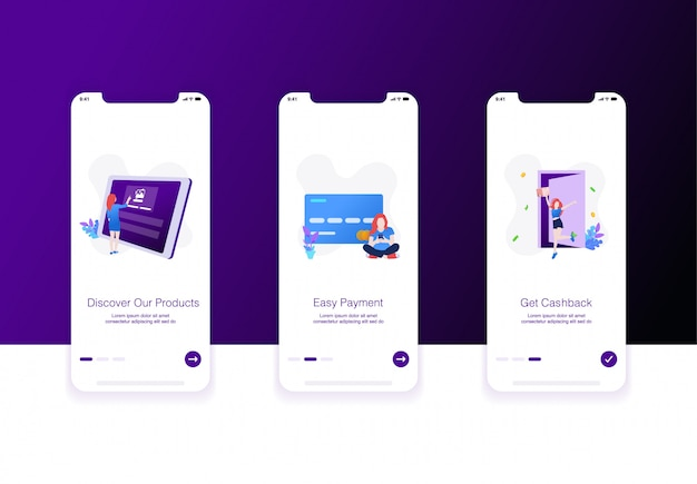 Illustration of e commerce onboarding screen