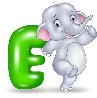 Illustration of e letter for elephant