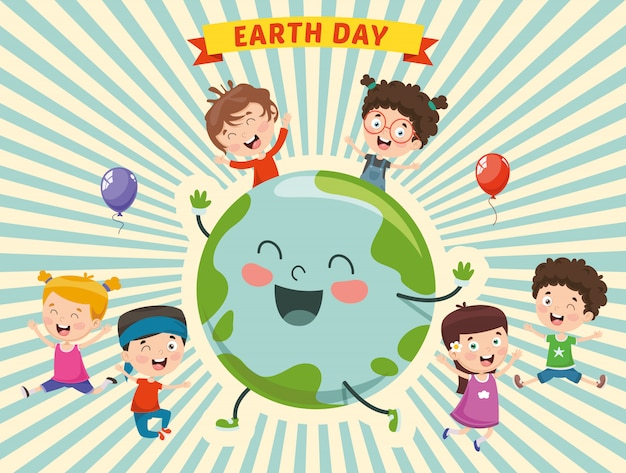 Illustration of earth day