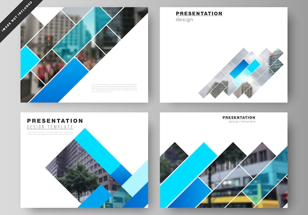 Illustration of the editable layout of the presentation slides design business templates.