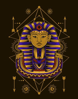 신성한 기하학 그림 이집트 왕