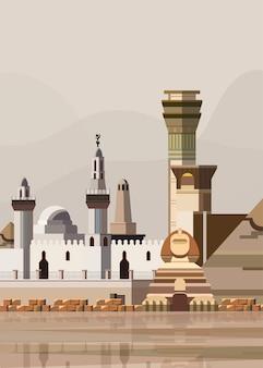 Illustration of egyptian landmarks