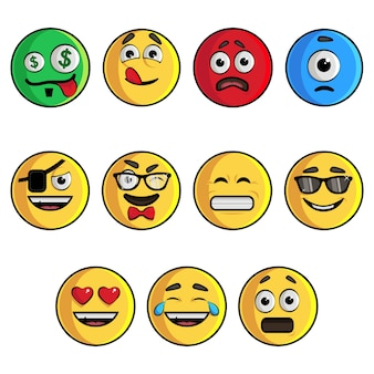 Illustration of emoji set.